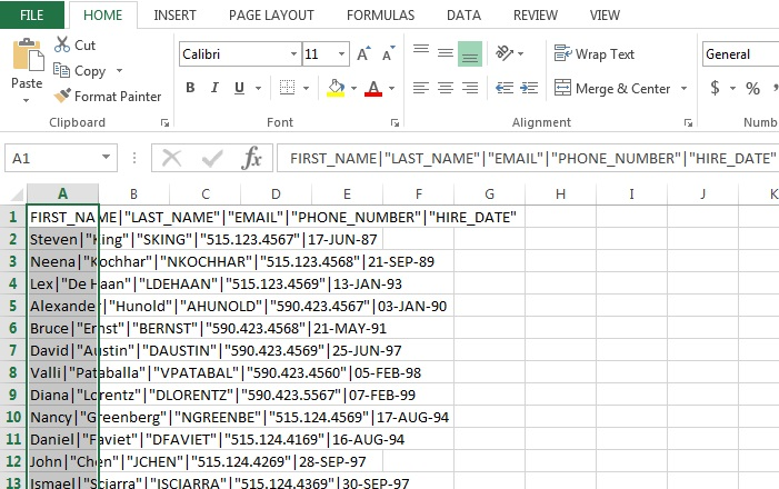 How To Open CSV PIPE Delimited File In Microsoft Excel