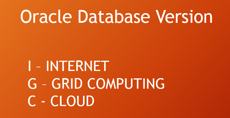 Oracle Database Meaning of I G and C