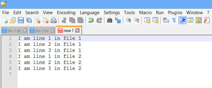 combine file with no option