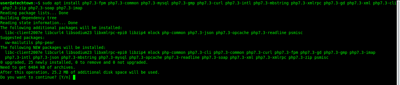 Getting PHP from the terminal