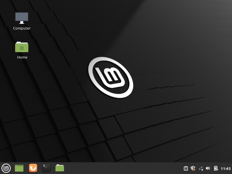Linux Mint installed