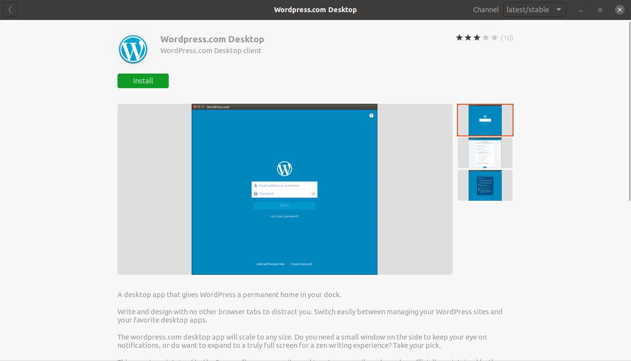 Wordpress desktop client