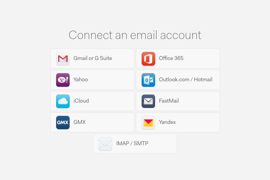 Connect an email with Mailspring
