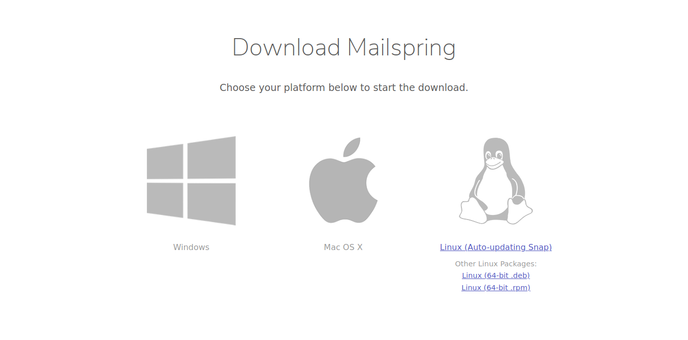 Mailspring download page