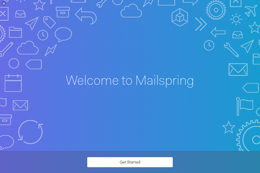 Mailspring Welcome Screen
