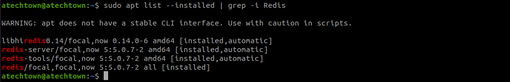 software list where redis used