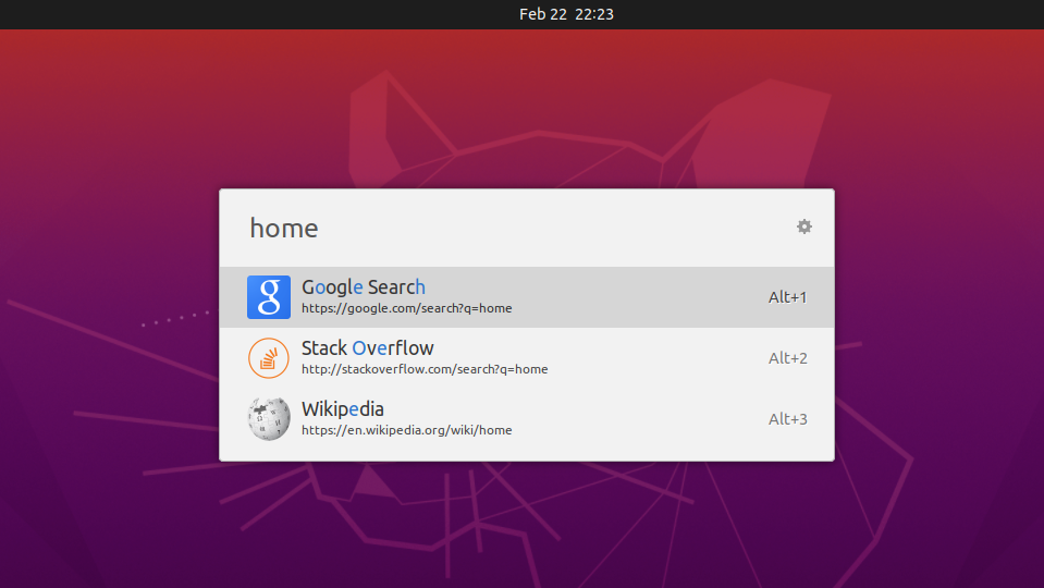 Ulauncher can search from Google